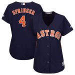 Majestic George Springer Houston Astros Women's Navy Team Cool Base Player Jersey
