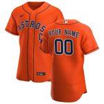 Nike Houston Astros Orange 2020 Alternate Authentic Custom Jersey
