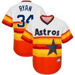 Nolan Ryan Houston Astros White/Orange Big & Tall Home Cooperstown Collection Replica Player Jersey
