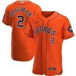 Nike Alex Bregman Houston Astros Orange Alternate 2020 Authentic Player Jersey