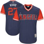 "Majestic Mike Trout ""Kiiiiid"" Los Angeles Angels Navy/Red 2017 Little League World Series Authentic Players Weekend Classic Jersey"