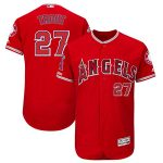 Majestic Mike Trout Los Angeles Angels Scarlet Alternate Flex Base Authentic Collection Player Jersey