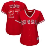 Majestic Mike Trout Los Angeles Angels Women's Scarlet Cool Base Player Jersey