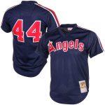Mitchell & Ness Reggie Jackson California Angels Navy Cooperstown Mesh Batting Practice Jersey