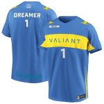 Dreamer Los Angeles Valiant Powder Blue Overwatch League Home Player Jersey
