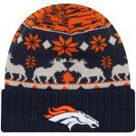 New Era Denver Broncos Orange Mooser Cuffed Knit Hat