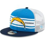 New Era Los Angeles Chargers Powder Blue/Navy Classic 77 Stripe Mesh 9FIFTY Snapback Adjustable Hat