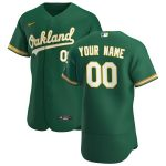 Nike Oakland Athletics Kelly Green 2020 Alternate Authentic Custom Jersey