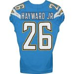 Fanatics Authentic Casey Hayward Jr. Los Angeles Chargers Game-Used #26 Blue Jersey vs. Las Vegas Raiders on December 22, 2019