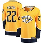 Fanatics Branded Korbinian Holzer Nashville Predators Women's Gold Breakaway Home Player Jersey