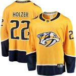 Fanatics Branded Korbinian Holzer Nashville Predators Gold Breakaway Home Player Jersey