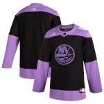 adidas New York Islanders Black Hockey Fights Cancer Practice Jersey