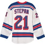 Fanatics Authentic Derek Stepan New York Rangers Game-Used #21 White Jersey from the 2013 Stanley Cup Playoffs - Size 56