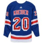 Fanatics Authentic Chris Kreider New York Rangers Game-Used #20 Blue Set 2 Jersey from the 2018-19 NHL Season - Size 58