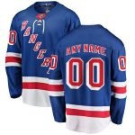 Fanatics Branded New York Rangers Blue Home Breakaway Custom Jersey