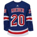 Fanatics Authentic Chris Kreider New York Rangers Game-Used #20 Blue Set 1 Jersey from the 2018-19 NHL Season - Size 58