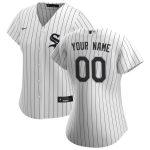 Nike Chicago White Sox Women's White/Black 2020 Home Replica Custom Jersey