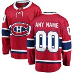 Fanatics Branded Montreal Canadiens Youth Red Home Breakaway Custom Jersey