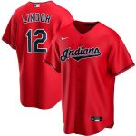 Nike Francisco Lindor Cleveland Indians Red Alternate 2020 Replica Player Jersey