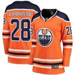 Fanatics Branded Andreas Athanasiou Edmonton Oilers Women's Orange Breakaway Home Player Jersey