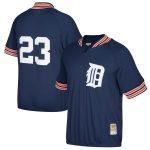 Mitchell & Ness Kirk Gibson Detroit Tigers Navy Cooperstown Collection Mesh Batting Practice Quarter-Zip Jersey