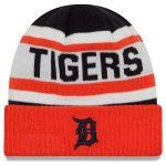 New Era Detroit Tigers White/Orange Biggest Fan 2.0 Cuffed Knit Hat