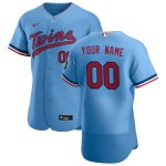 Nike Minnesota Twins Light Blue 2020 Alternate Authentic Custom Jersey