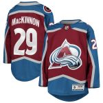 Nathan MacKinnon Colorado Avalanche Youth Burgundy Premier Player Jersey