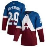 adidas Nathan MacKinnon Colorado Avalanche Blue/Burgundy 2020 Stadium Series Authentic Player Jersey