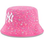 New Era New York Yankees Girls Infant Pink Pattern Bucket Hat