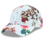 New Era New York Yankees Women's Light Blue Floral All Over 9TWENTY Adjustable Hat