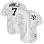 Mickey Mantle New York Yankees White/Navy Home Cooperstown Collection Replica Player Jersey