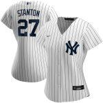 Nike Giancarlo Stanton New York Yankees Women's White Home 2020 Replica Player Jersey