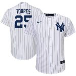 Nike Gleyber Torres New York Yankees Youth White Home 2020 Replica Player Jersey