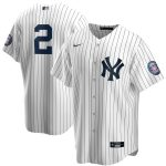Nike Derek Jeter New York Yankees White/Navy 2020 Hall of Fame Induction Replica Jersey