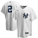 Nike Derek Jeter New York Yankees White/Navy Replica Jersey