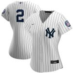 Nike Derek Jeter New York Yankees Women's White/Navy 2020 Hall of Fame Induction Replica Jersey