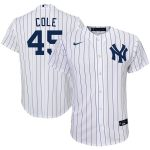 Nike Gerrit Cole New York Yankees Preschool White/Navy Home 2020 Replica Player Jersey