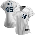 Nike Gerrit Cole New York Yankees Women's White Home 2020 Replica Player Name Jersey