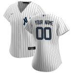 Nike New York Yankees Women's White/Navy 2020 Home Replica Custom Jersey