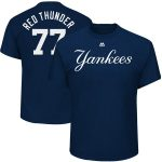 "Majestic Clint Frazier ""Red Thunder"" New York Yankees Navy 2017 Players Weekend Name & Number T-Shirt"
