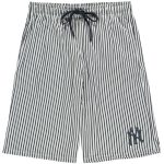 New York Yankees White/Navy Big & Tall Pinstripe Shorts