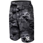 New York Yankees Charcoal Camo Training Shorts
