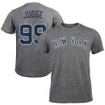 Majestic Threads Aaron Judge New York Yankees Gray Tri-Blend Name & Number T-Shirt