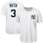 Majestic Babe Ruth New York Yankees Youth White Sublimated Cooperstown Collection Jersey T-Shirt
