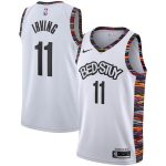 Nike Kyrie Irving Brooklyn Nets White 2019/20 Finished City Edition Swingman Jersey