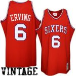 Mitchell & Ness Philadelphia 76ers Julius Erving Red Hardwood Classics Authentic Throwback Basketball Jersey