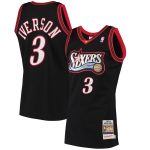 Mitchell & Ness Allen Iverson Philadelphia 76ers Black 1997 Hardwood Classics Authentic Jersey