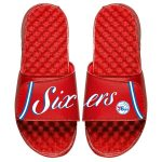 ISlide Philadelphia 76ers Youth Red Statement Jersey Split Slide Sandals