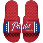 Philadelphia 76ers ISlide Youth Red Statement Jersey Slide Sandals